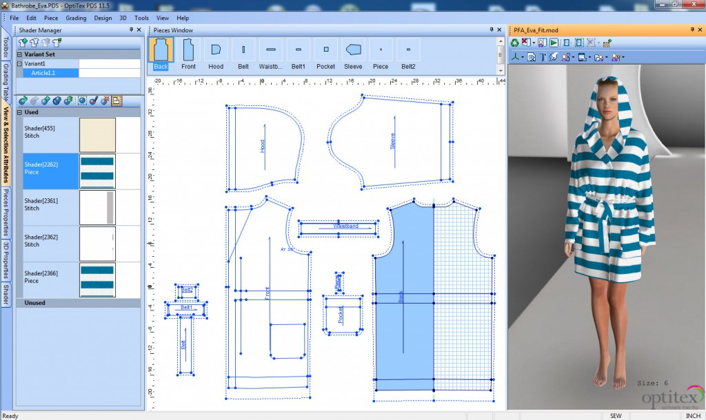 optitex patternmaking CAD system